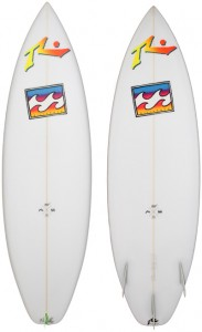 Mark Occhilupo reissue surfboard by Rusty and Billabong