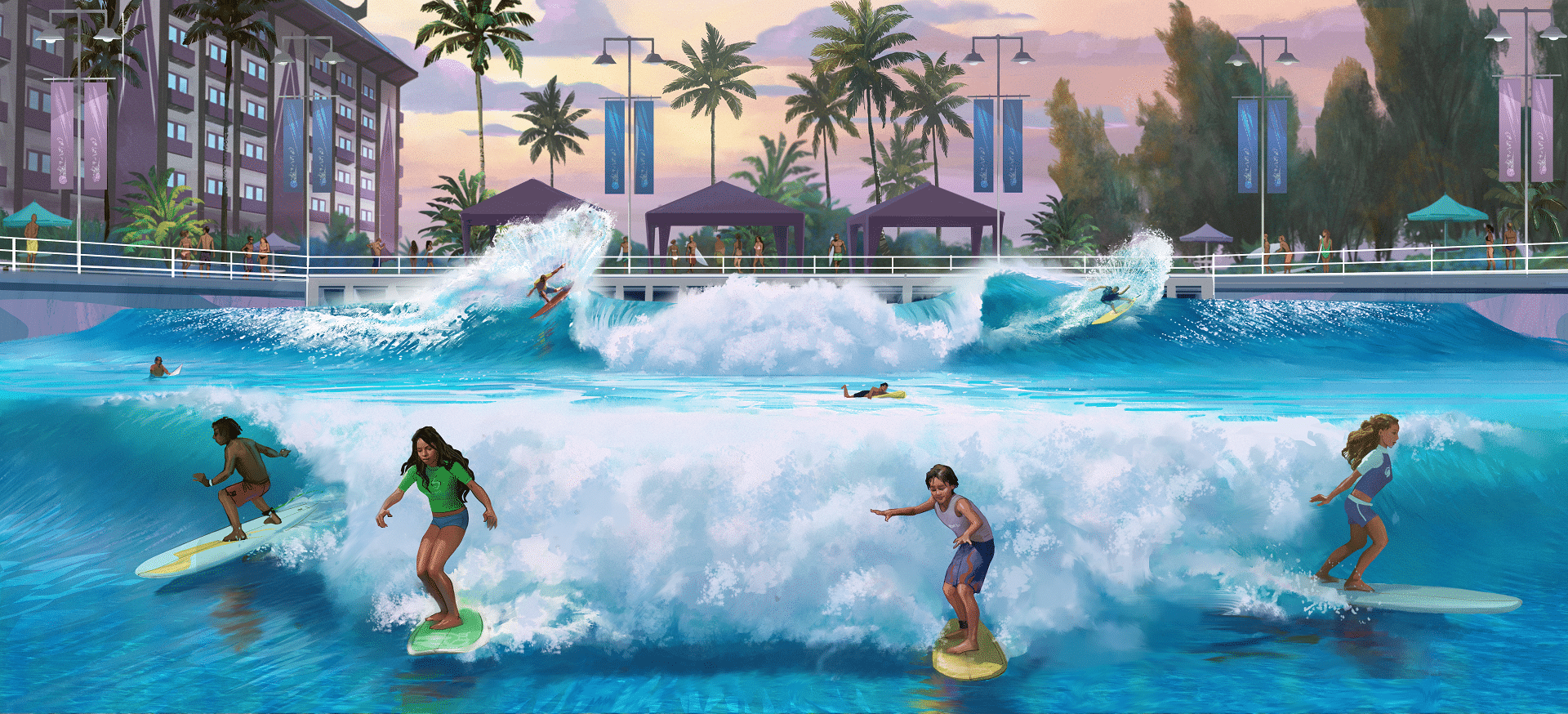 heres another one of those artists impressions of the yet to be built wavepool that gets meright there in the upper waters of my nervous system