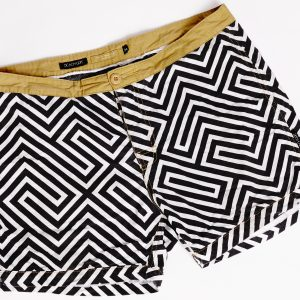Front of Beach Grit surf trunks