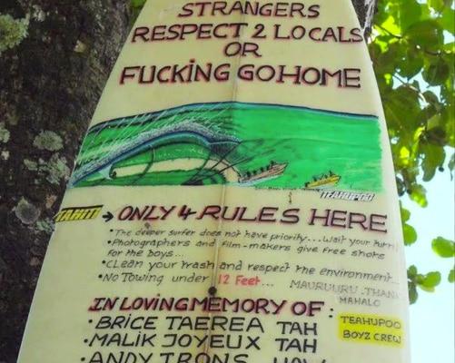 Teahupoo sign