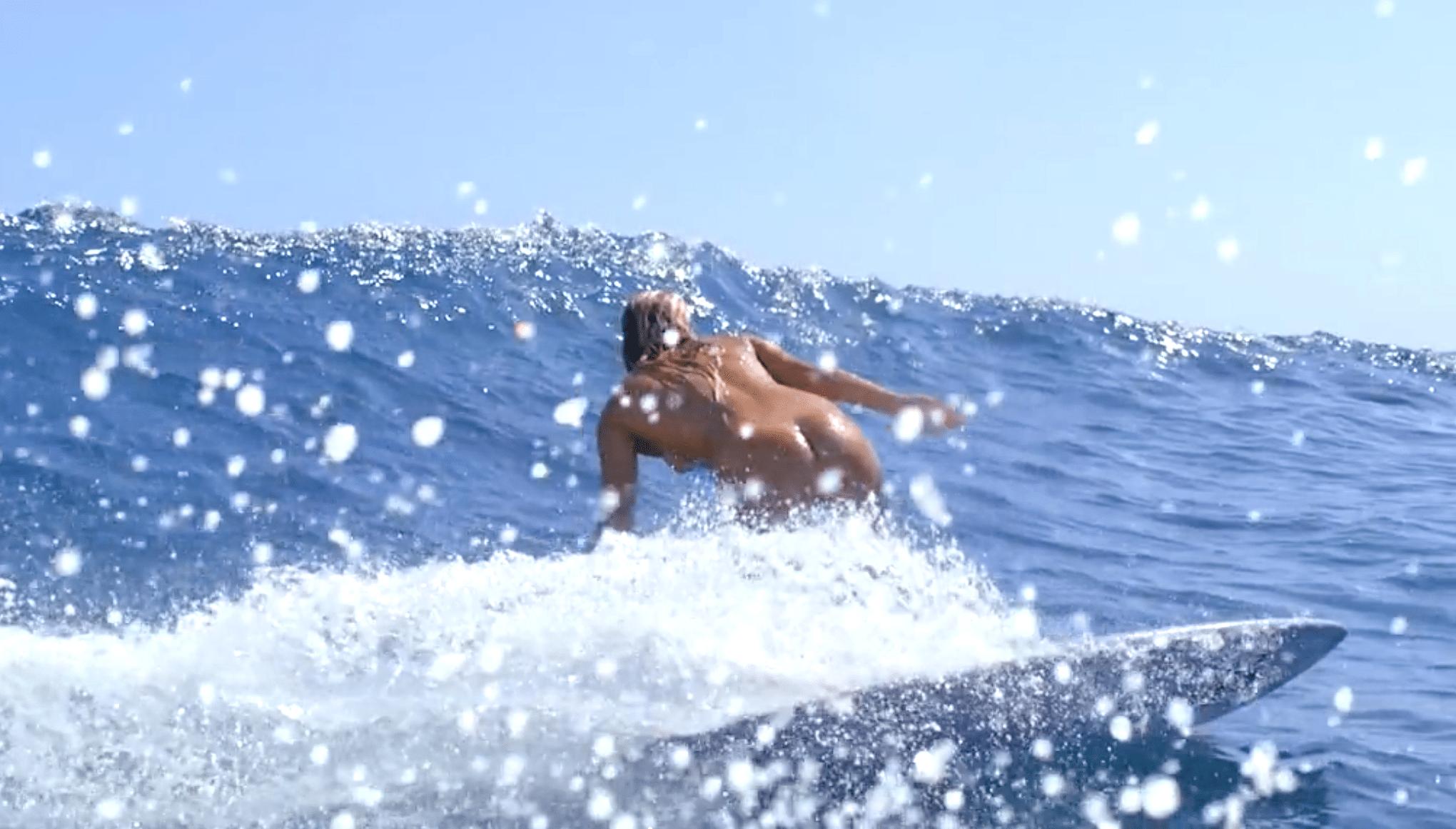 Naked Men Surfing